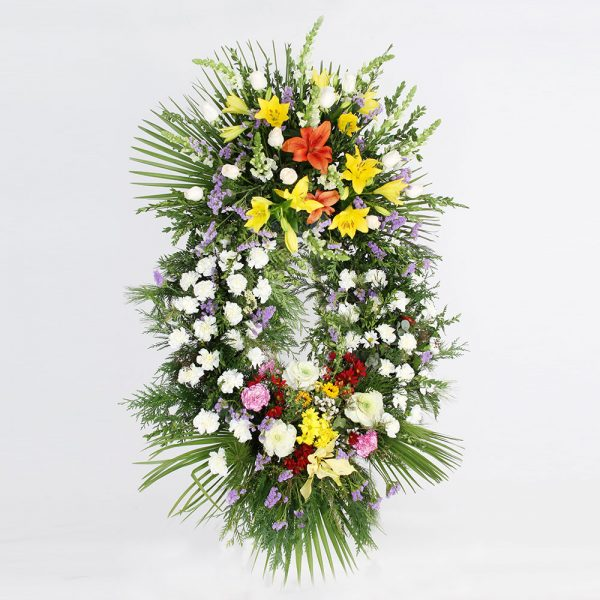 Corona variada multicolor | Trébol Floristas