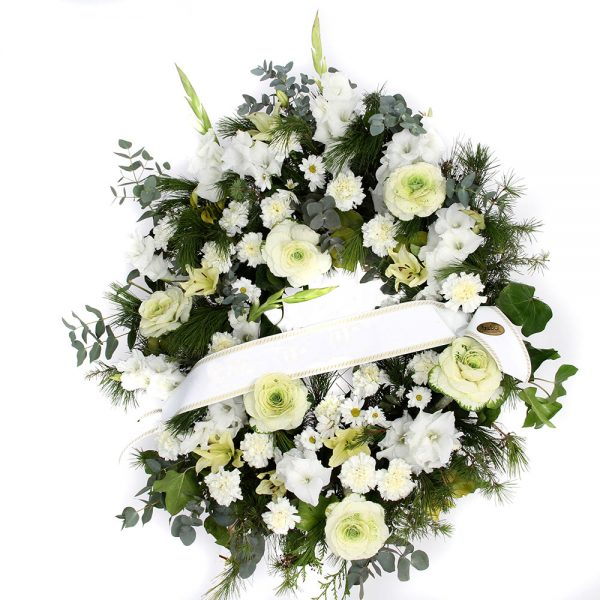 Corona tonos blancos | Trébol Floristas